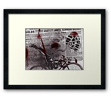 Crime Evidence - Blood and Scissors Framed Print