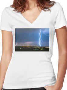 Night Strike Women's Fitted V-Neck T-Shirt