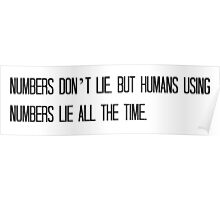 Numbers Don't Lie Poster