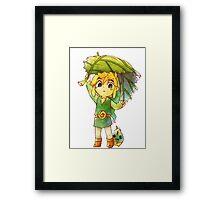 The Legend Of Zelda : Link Framed Print