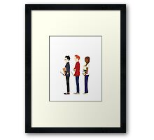 Harry Potter, Ron Weasley and Hermione Granger Framed Print
