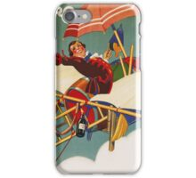 Vintage famous art - Carlo Nicco  - Gianduja Re D J Aviator Poster iPhone Case/Skin