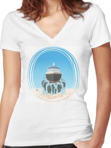 The Flying Pacific Pandora Cruise Women's Fitted V-Neck T-Shirt