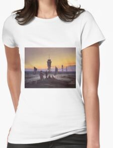 Vintage famous art - Caspar David Friedrich  - The Stages Of Life Womens Fitted T-Shirt