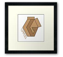 "CARGO Big Logo ""Cardboard #1"" by Rilwan Kujenya Framed Print"