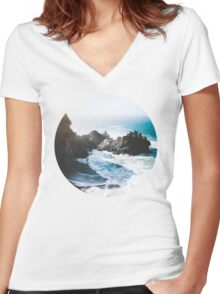 On The Edge Women's Fitted V-Neck T-Shirt
