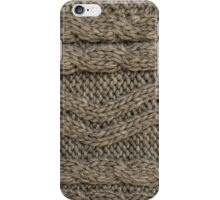Background: knitted texture iPhone Case/Skin
