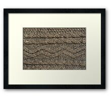 Background: knitted texture Framed Print