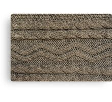 Background: knitted texture Canvas Print