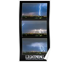 Lightning - Atmospheric Electrostatic Discharge. Poster