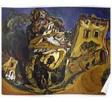 Vintage famous art - Chaim Soutine - Landscape At Cagnes Poster