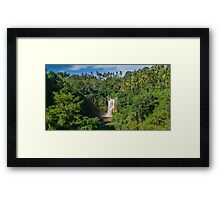 Tenungan Waterfall Framed Print