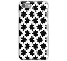 Puzzled Pattern - Classic Black & White Puzzles iPhone Case/Skin