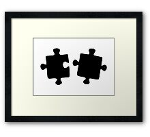 Puzzled Pattern - Classic Black & White Puzzles Framed Print
