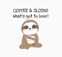Cute Animals Coffee And Sloths Womens Fitted T-Shirt