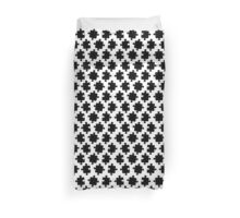 Puzzled Pattern - Classic Black & White Puzzles Duvet Cover