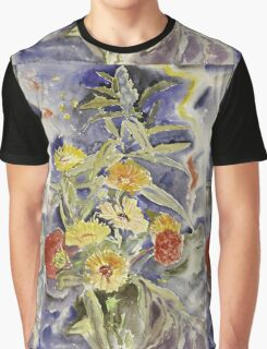 Vintage blue art - Charles Demuth - Spray Of Flowers Graphic T-Shirt