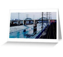 Under the Bridge Downtown Los Angeles Greeting Card