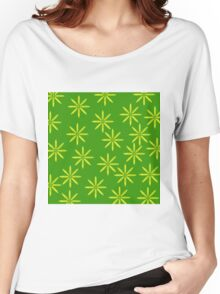 Yellow Flowers on Green Women's Relaxed Fit T-Shirt