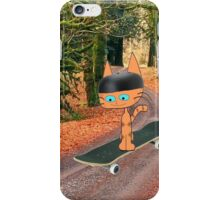 Cat On His SkateBoard iPhone Case/Skin