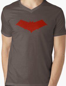 Red Hood Logo Mens V-Neck T-Shirt