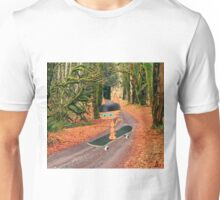 Cat On His SkateBoard Unisex T-Shirt