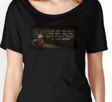 """The Labyrinth Worm Quote """"who, me? Nahh, im just a worm"""" Women's Relaxed Fit T-Shirt"""