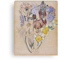 Vintage blue art - Charles Rennie Mackintosh  - Mont Louis - Flower Study Canvas Print