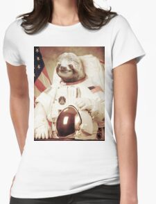 Sloth Astronaut (Slothstronaut) Womens Fitted T-Shirt