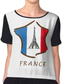 France with Eiffel Tower ! Chiffon Top