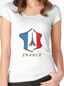 France with Eiffel Tower ! Women's Fitted Scoop T-Shirt