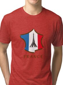 France with Eiffel Tower ! Tri-blend T-Shirt
