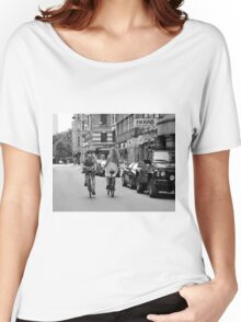 Copenhagen Lovers on Bicycles Women's Relaxed Fit T-Shirt