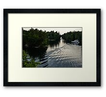 Silver Light and Ripples - Thousand Islands, Saint Lawrence River Framed Print