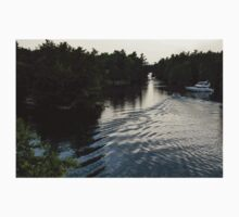 Silver Light and Ripples - Thousand Islands, Saint Lawrence River Kids Tee
