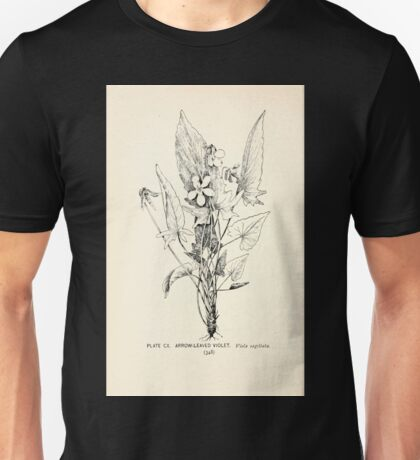 Southern wild flowers and trees together with shrubs vines Alice Lounsberry 1901 110 Arrow Leaved Violet Unisex T-Shirt