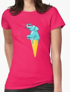 ice cream elephant Womens Fitted T-Shirt