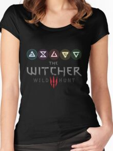 Witcher 3 - Signs Women's Fitted Scoop T-Shirt