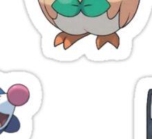 Pokemon Sun and Moon Starters Sticker