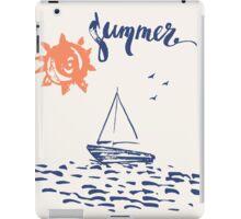 Sea boat iPad Case/Skin