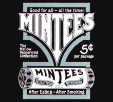 Mintees (White - 3D) Baby Tee