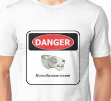 Warning! Angry Saber-toothed cat! Unisex T-Shirt