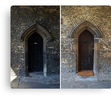 King's School Doors, Ely, Cambridgeshire Canvas Print