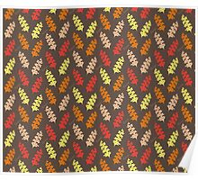 Autumn Leaves Pattern I Poster