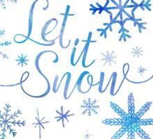 Let It Snow Pattern Sticker