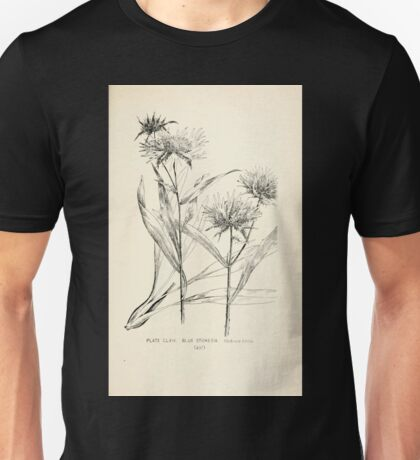Southern wild flowers and trees together with shrubs vines Alice Lounsberry 1901 163 Blue Sokesia Unisex T-Shirt