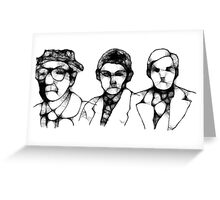 Icons of Transgressive Literature Greeting Card