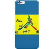 American Sign Language Peace and Quiet iPhone Case/Skin