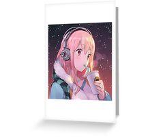 Headphone Hot Bae Greeting Card