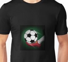 Football theme with shooting ball Unisex T-Shirt